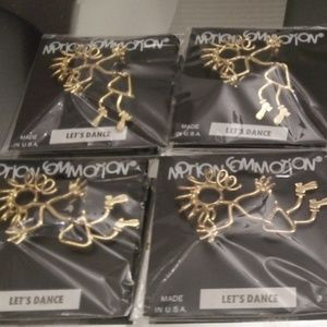 MOTION COMMOTION LETS DANCE BROOCHES & EARRINGS